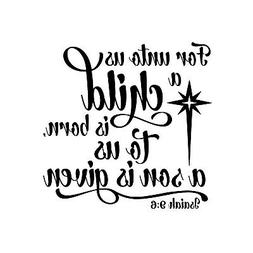 Unto us Child is Born Unmounted Rubber Stamp, Bible Verse Re