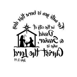 Unto you is Born Unmounted Rubber Stamp Luke 2:11 verse Reli