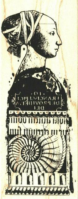 Acey Deucy ~ VENETIA ~ Wood Mounted Rubber Stamp Women & Dec