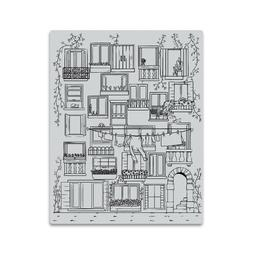 "Hero Arts ""VENETIAN NEIGHBORHOOD"" Background Cling Rubber St"