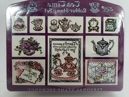 Vintage 1993 Rubber Stamp Set Tea Time 10 Stamps Scrapbookin