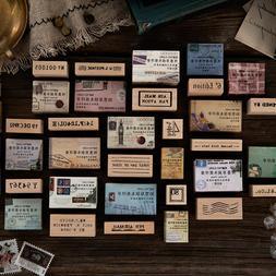 Vintage Post office series wooden <font><b>rubber</b></font>
