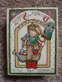 Vintage Penny Black Rubber Stamp 1996 Christmas Decorate Wit
