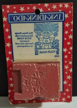 Vintage INKADINKADO ~ Rubber Stamp ~ TROLL ~ Name Stamp Kit