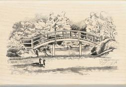 Inkadinkado Walking Bridge Wood Stamp