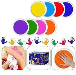 GooMart 8 Colors Washable Large Ink pads for Rubber Stamps K