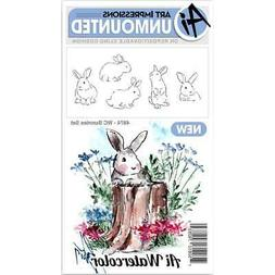 Art Impressions Watercolor Cling Rubber Stamps - Bunnies