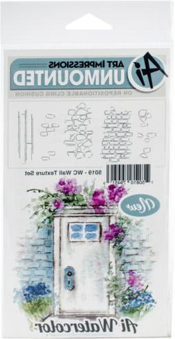 Art Impressions Watercolor Cling Rubber Stamps -Wall Texture