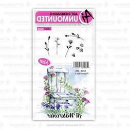 Art Impressions Watercolor Cling Rubber Stamps  WC Flower Se