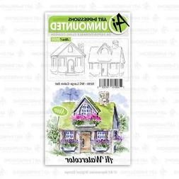 Art Impressions Watercolor Cling Rubber Stamps  WC Large Cab