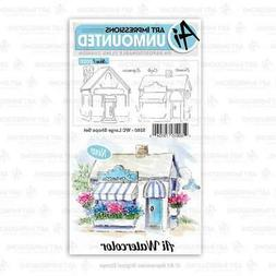 Art Impressions Watercolor Cling Rubber Stamps  WC Large Sho
