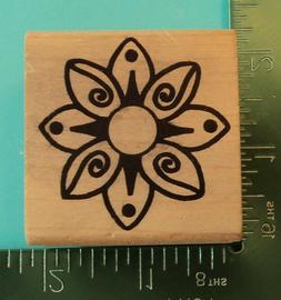 WHIMSICAL FLOWER BLOSSOM Rubber Stamp by MAGENTA  Designer S