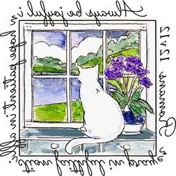 Art Impressions Windows to the World Collection Rubber Stamp