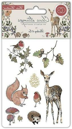 WINTER WOODLAND  8 Stamps Craft Consortium Clear Rubber Stam