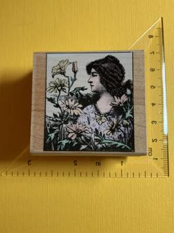 Women With Flowers  Poetic Prints Hero Arts Rubber Stamps Ca