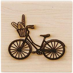 """CLEARSNAP Wood Mount Stamp 3"""" by 3"""" Rubber Stamp, Flamingo"""