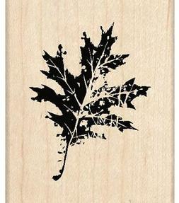Inkadinkado Wood Mounted Rubber Stamp G, Oak Leaf