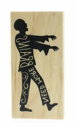 Inkadinkado - Wood Mounted Rubber Stamp - Halloween - Need M