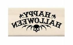 Inkadinkado - Wood Mounted Rubber Stamp - Happy Halloween