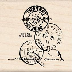 Inkadinkado Wood Mounted Rubber Stamp K-Paper Artsy Tre'port