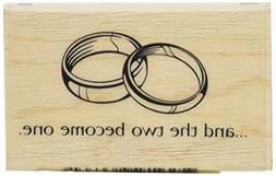 Inkadinkado Wood Mounted Rubber Stamp K-Two Rings