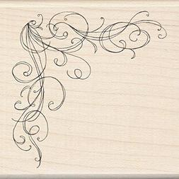 Inkadinkado Wood Mounted Rubber Stamp O-Large Corn