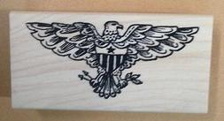 wood mounted rubber stamp patriotic stamps eagles