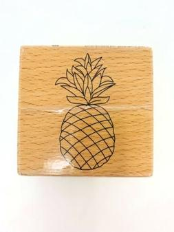 Studio G Wood Mounted Rubber Stamp Pineapple Design Stamping