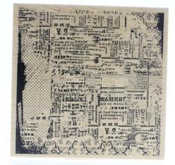 Inkadinkado Wood Stamp, News Print