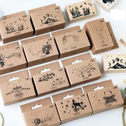 Wood Stamp DIY Wooden Rubber Stamps Scrapbooking Stationery