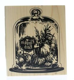 Inkadinkado Wood Stamp, Glassed Pumpkin Patch