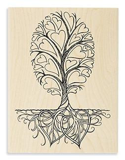 STAMPENDOUS Wood Stamp Roots of Love