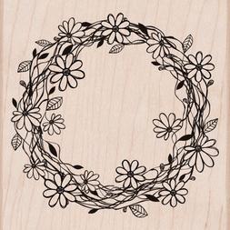 Hero Arts Woodblock Stamp, Flower Wreath
