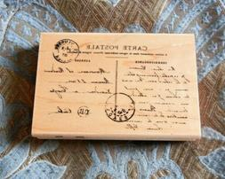 Stampendous Wooden Rubber Stamp   Carte Postale French Postc