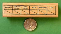 Writing Traits Grid - Teacher's Writing Rubber Stamp, Wood M