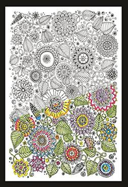 Design Works Zenbroidery Floral Embroidery Kit